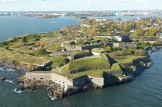 Suomenlinna Sea Fortress Is only at a 10-15 minute ferry ride distance from the Helsinki market square. Great place for a pick nick or just wandering around the charmin area.