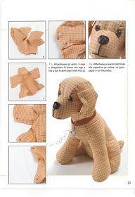 Eu Amo Artesanato: Cachorrinho com molde