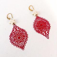 Δαντέλα Crochet Earrings, Jewelry, Fashion, Moda, Jewlery, Jewerly, Fashion Styles, Schmuck, Jewels