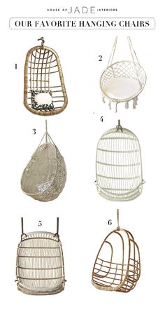 Design Tip: Hanging Chairs - House of Jade Interiors Blog