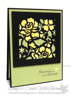 Stamp & Create With Sabrina: Paper Inlay with Detailed Floral Thinlits - Sympathy Card