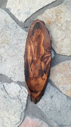 naked guitar girl artpaint printing on wood,guitargirl,wood print,art print,nakedgirl playing guitar Wood Burning Crafts, Guitar Girl, Wood Carving Art, Drawing Techniques, Playing Guitar, Pyrography, Wood Print, Painted Rocks, Natural Wood