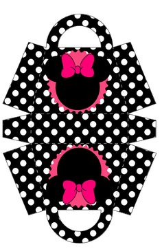 Minnie Free Printable Paper Purse.
