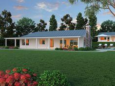 L-Shaped Ranch - 2 bed, 2 Bath @ Plan #888-5 - Houseplans.com