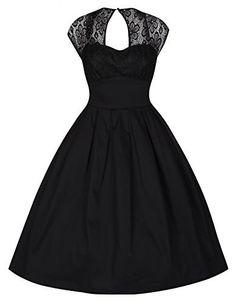 3a27fc72b58c Lindy Bop  Verona  Ravishingly Sophisticated Black Evening Dress (M