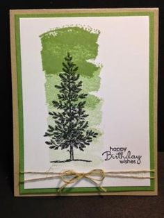 Lovely as a Tree, Work of Art, Masculine Card, Birthday Card, Stampin' Up!, Rubber Stamping, Handmade Cards by bethany