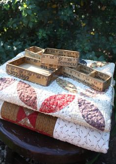 Handmade using Temecula Quilt Co. yardsticks, they are great as gifts for your quilting, sewing friends or to hold all your sewing necessities. Small - $8US; Medium - $10US; Large - $15US by Temecula Quilt Co. - Quilt Shop in Temecula, California