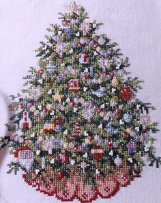 counted cross stitch pattern Christmas Tree found on etsy.com