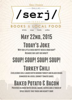You are so close to the long weekend; share a joke about Ms. Muffet & Turkey Chili @serjbooks