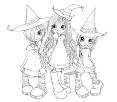 Résultat d'images pour Saturated Canary Digital Stamps Halloween Coloring Pages, Cute Coloring Pages, Adult Coloring Pages, Coloring Pages For Kids, Coloring Sheets, Coloring Books, Copics, Digital Stamps, Big Eyes