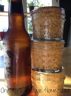 Beer Mustard: A Water Bath Canning Recipe -- The weather is getting warmer and that means more outdoor family activities, cookouts, and watching your favorite sports. Making this delicious beer mustard goes great with brats hot off the grill, a dip for a yummy soft pretzel or crispy chicken tenders. And as this is a water bath canning...