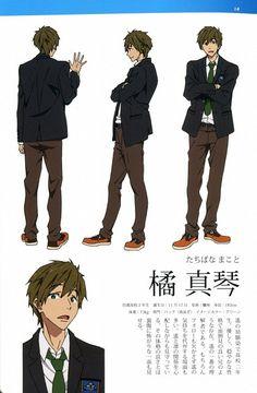 Kyoto Animation, Free!, Free! TV Animation Guide Book, Makoto Tachibana, Character Sheet
