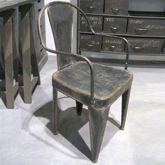 Chaise en métal Ted Hanjel style industriel (set de 2) : Decoclico