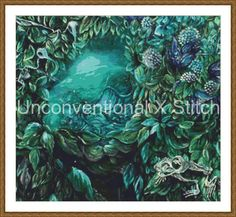 Skeleton Organic Nature cross stitch pattern - modern counted cross stitch - The…