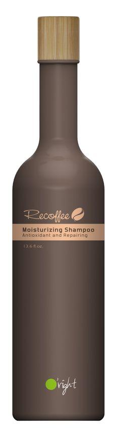 O'right - Recoffee Moisturizing Shampoo - Fugtgivende shampoo til skadet hår - 400 ml