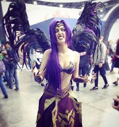 crazy-manyasha: cosplay League of legends - Morgana Cute Cosplay, Amazing Cosplay, Cosplay Outfits, Halloween Cosplay, Best Cosplay, Cosplay Girls, Cosplay Costumes, Morgana League Of Legends, Cosplay League Of Legends