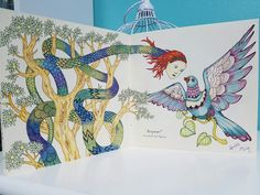 Escape to Wonderland coloring book, colorido com lápis Tombow, por @lelescristiane