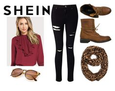 """Shein"" by realitybytes85 ❤ liked on Polyvore featuring Miss Selfridge and Steve Madden"