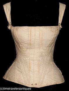Rare c1830's Lady's Corded Stays / Corset