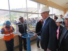 Presidente de la República visita Planta de Tratamiento de Agua Potable El Milagro