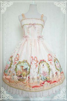 #lolitadress#lolita#dress#Spring Lycris Prints Lolita Dress OP
