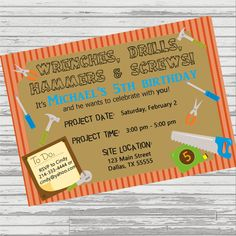Home depot party invitations 1 invitations pinterest party home depot party invitations 1 invitations pinterest party invitations birthdays and construction party filmwisefo