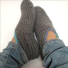 gratis haakpatroon pantoffel