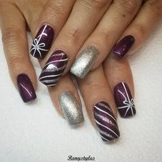 125 bright and awesome christmas nails art design – page 18 Loading. 125 bright and awesome christmas nails art design – page 18 Christmas Present Nail Art, Holiday Nail Art, Winter Nail Art, Halloween Nail Art, Winter Nails, Trendy Nail Art, Cool Nail Art, Christmas Nail Art Designs, Christmas Design