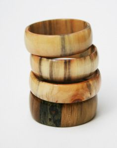 Stabilised, spalted wood rings by FloWolFDesigns.co.uk Jewelry Art, Jewlery, How To Make Rings, Wood Rings, Crafty Craft, Stones And Crystals, Woodworking, Cool Stuff, Silver