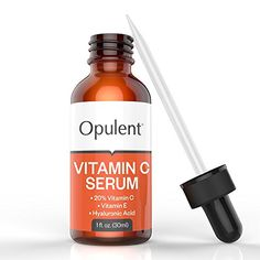 Vitamin C Serum for Face - Best 20% Vitamin C + E + Hyaluronic Acid - Anti Aging Natural Skin Care for Dark Spots, Wrinkles, Sun Spots, Fine Lines, Hyperpigmentation, Age Spots, Sun Damage - Vitamin C Serum for Eye Area, Under Eyes Dark Circles, Skin Lightening - 1 Oz - 100% Money Back Guarantee