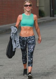 Ab-solutely fabulous: Julianne Hough showed off her taut tummy in Los Angeles Wednesday