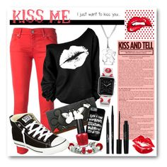 """""""Kiss Me"""" by drinouchou ❤ liked on Polyvore featuring Bling Jewelry, Manic Panic, Jacob Cohёn, Torrid, Converse, Casetify, OPI and Laura Geller"""