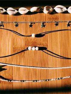 Star Jewelry, Cute Jewelry, Diy Jewelry, Jewelery, Seashell Necklace, Shell Necklaces, Diy Necklace, Summer Bracelets, Summer Jewelry