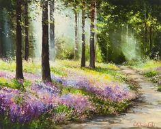 'Fragrant Wood' by Gleb Goloubetski Oil on Canvas 80cm x 100cm