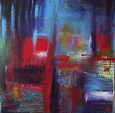 "Saatchi Art Artist Nathalie Gribinski; Painting, ""The red chair"" #art"