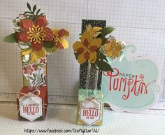 September 2016 Paper Pumpkin - Alternative Idea  - and How To, with cutting dimensions