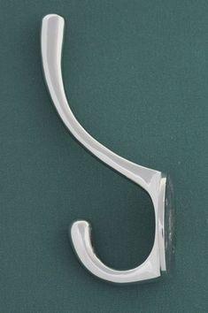 Double Coat Hook Iron Antique Modern Vintage Silver Chrome Grey Addison Set 3