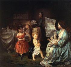 The Athenaeum - The War Spirit at Home: Celebrating the Battle at Vicksburg (Lilly Martin Spencer - ) 1866