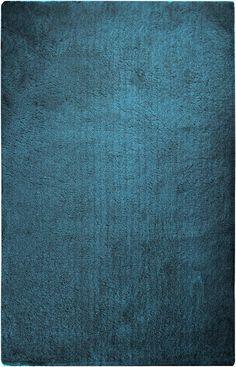 Hand Woven teal plush area rug
