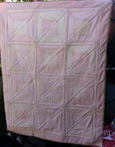 Quilted Baby Blanket -backside- by NN CustomDesigns