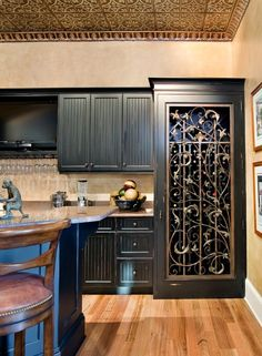 Would make a fabulous pantry door painted a glossy white with black wrought iron! #LGLimitlessDesign #Contest