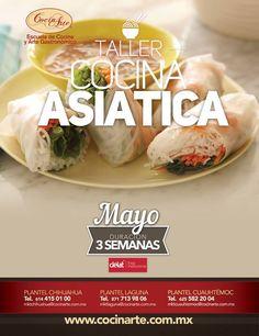 Te invitamos a la Clase Muestra Gratis de Cocina Asiática que tendremos éste 30 de Abril, pregunta en tu ciudad por el horario:  Laguna 713 98 06 Chihuahua 4 15 01 00 Cuauhtémoc 58 2 2004  Iniciamos Taller de 3 semanas de Cocina Asiática el Lunes 4 de Mayo, llama y solicita informes. #Cocina   #Asiatica   #taller   #CocinArte