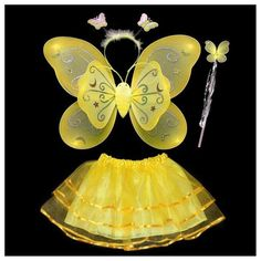 V0gue Kids Girls Angel Fairy Butterfly Wings Fancy Princess Party Outfits Hot