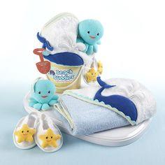 """""""Beach Buddies"""" 3-Piece Bathtime Bucket Gift Set"""