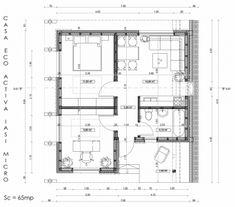 Casa Ecologica MICRO STANDARD - Construcții de case din lemn și case imprimate 3D Floor Plans, Houses, Floor Plan Drawing, House Floor Plans