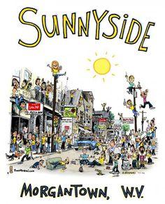 Sunnyside district in Morgantown, WV