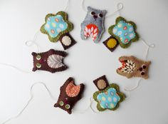 Bear Garland Wall Hanging by sewwhimsycreations on Etsy