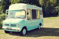 Ice cream van! Fish & Chips, Sunshine and Ice Cream ~ A Vintage Inspired Garden Fete Wedding... Photography by http://elizaclaire.com