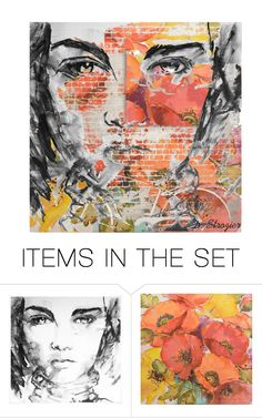 """Portrait"" by deborah-strozier ❤ liked on Polyvore featuring art and modern"