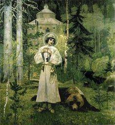 Mikhail Nesterov (1862–1942) Русский: М. В. Нестеров. Юность Преподобного Сергия. 1897. Третьяковская галерея